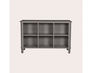 Henshaw Pale Charcoal Low Bookcase