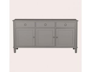 Henshaw Pale Charcoal 3 Door 3 Drawer Sideboard
