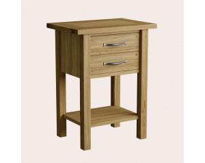 Milton Oak 2 Drawer Side Table