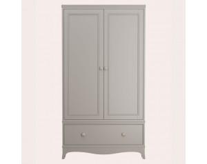 Broughton Pale French Grey 2 Door 1 Drawer Wardrobe