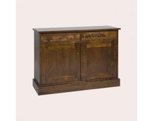 Garrat Dark Chestnut 2 Door 2 Drawer Sideboard