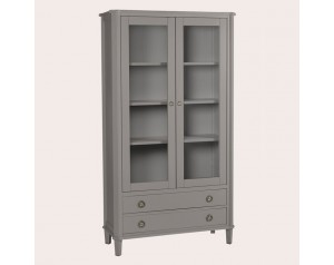 Henshaw Pale Charcoal 2 Door 2 Drawer Display Unit