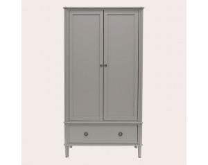 Henshaw Pale Charcoal 2 Door 1 Drawer Wardrobe