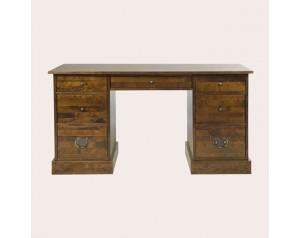 Garrat Dark Chestnut 7 Drawer Desk