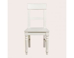 Dorset White Pair Of Dining Chairs