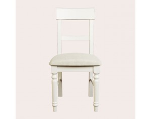 Dorset White Pair Of Upholstered Dining Chairs