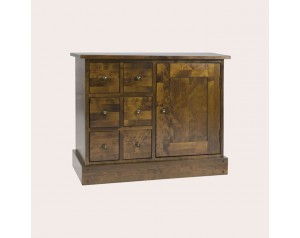 Garrat Dark Chestnut 1 Door 6 Drawer Sideboard