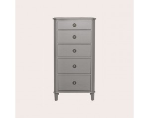 Henshaw Pale Charcoal 5 Drawer Tall Chest