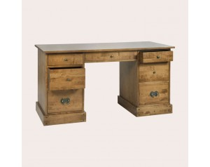 Garrat Dark Honey 7 Drawer Desk