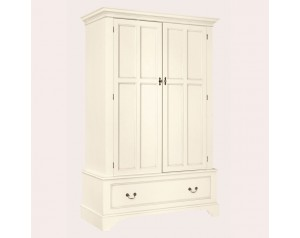 Clifton Ivory 2 Door 1 Drawer Wardrobe
