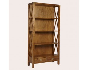 Balmoral Honey 2 Drawer Single Bookcase