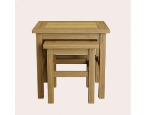 Milton Oak Nest of 2 Tables
