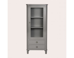 Henshaw Pale Charcoal 1 Door 2 Drawer Display Unit