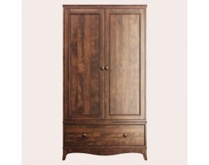 Broughton Dark 2 Door 1 Drawer Wardrobe