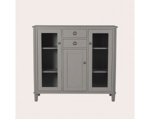 Henshaw Pale Charcoal 3 Door 2 Drawer Low Display Unit
