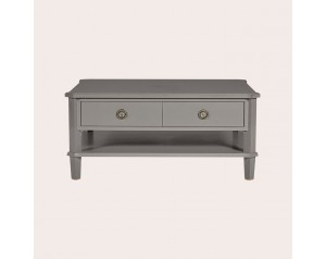 Henshaw Pale Charcoal 2 Drawer Coffee Table