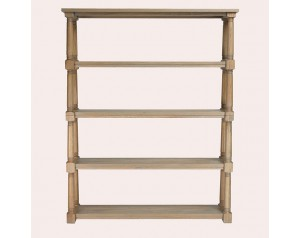 Wellington Oak Double Bookcase