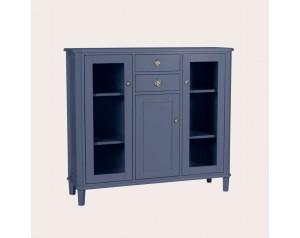 Henshaw Dusky Seaspray 3 Door 2 Drawer Low Display Unit
