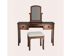 Broughton Dark 2 Drawer Dressing Table Set