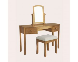 Broughton Honey 2 Drawer Dressing Table Set