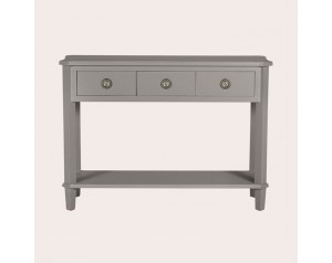 Henshaw Pale Charcoal 3 Drawer Console Table