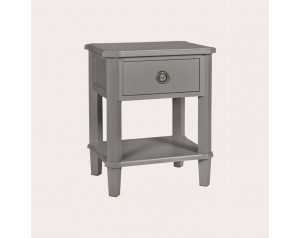 Henshaw Pale Charcoal 1 Drawer Side Table