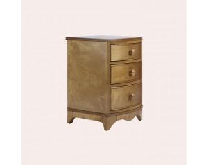 Broughton Honey 3 Drawer Bedside Chest