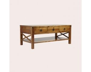 Balmoral Honey 3 Drawer Coffee Table