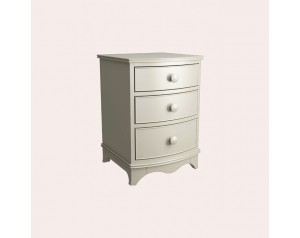 Broughton Ivory 3 Drawer Bedside Chest