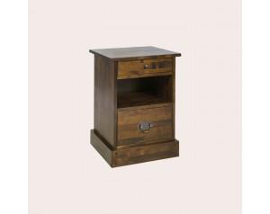 Garrat Dark Chestnut 2 Drawer Side Table