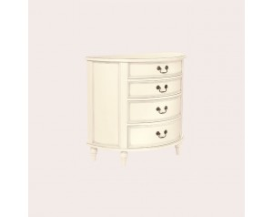Clifton Ivory 4 Drawer Half Moon Chest