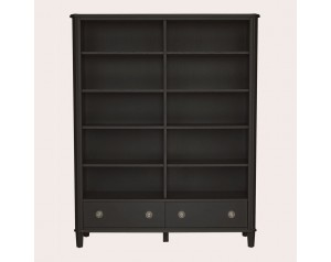 Henshaw Black 2 Drawer Double Bookcase