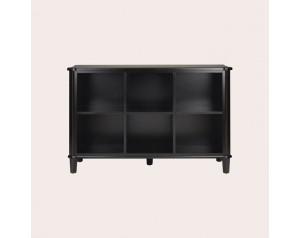 Henshaw Black Low Bookcase