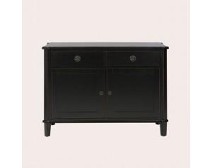 Henshaw Black 2 Door 2 Drawer Sideboard