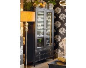Henshaw Black 2 Door 2 Drawer Display Unit