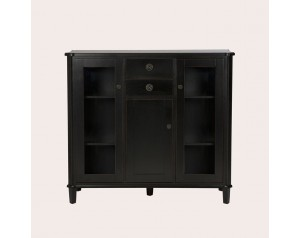 Henshaw Black 3 Door 2 Drawer Low Display Unit