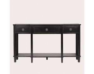 Henshaw Black 3 Drawer Triple Console Table