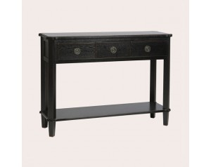 Henshaw Black 3 Drawer Console Table
