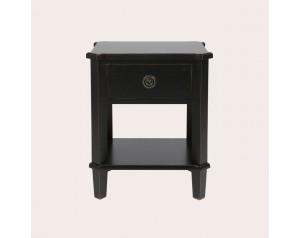 Henshaw Black 1 Drawer Side Table