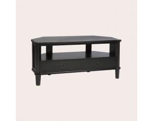 Henshaw Black 2 Drawer Corner Tv Unit