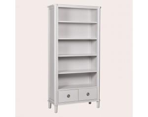 Henshaw Pale Steel 2 Drawer Single Bookcase