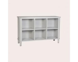 Henshaw Pale Steel Low Bookcase