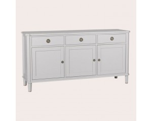 Henshaw Pale Steel 3 Door 3 Drawer Sideboard