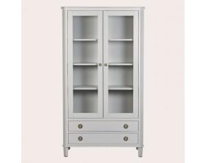 Henshaw Pale Steel 2 Door 2 Drawer Display Unit