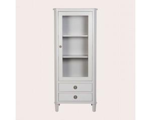 Henshaw Pale Steel 1 Door 2 Drawer Display Unit