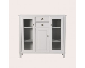 Henshaw Pale Steel 3 Door 2 Drawer Low Display Unit