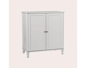 Henshaw Pale Steel Drinks Cabinet