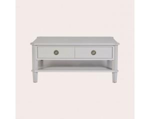Henshaw Pale Steel 2 Drawer Coffee Table