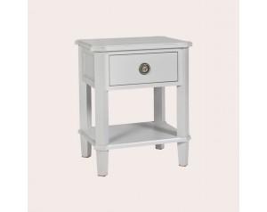 Henshaw Pale Steel 1 Drawer Side Table