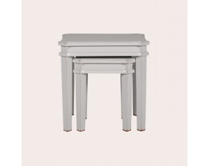 Henshaw Pale Steel Nest Of Tables